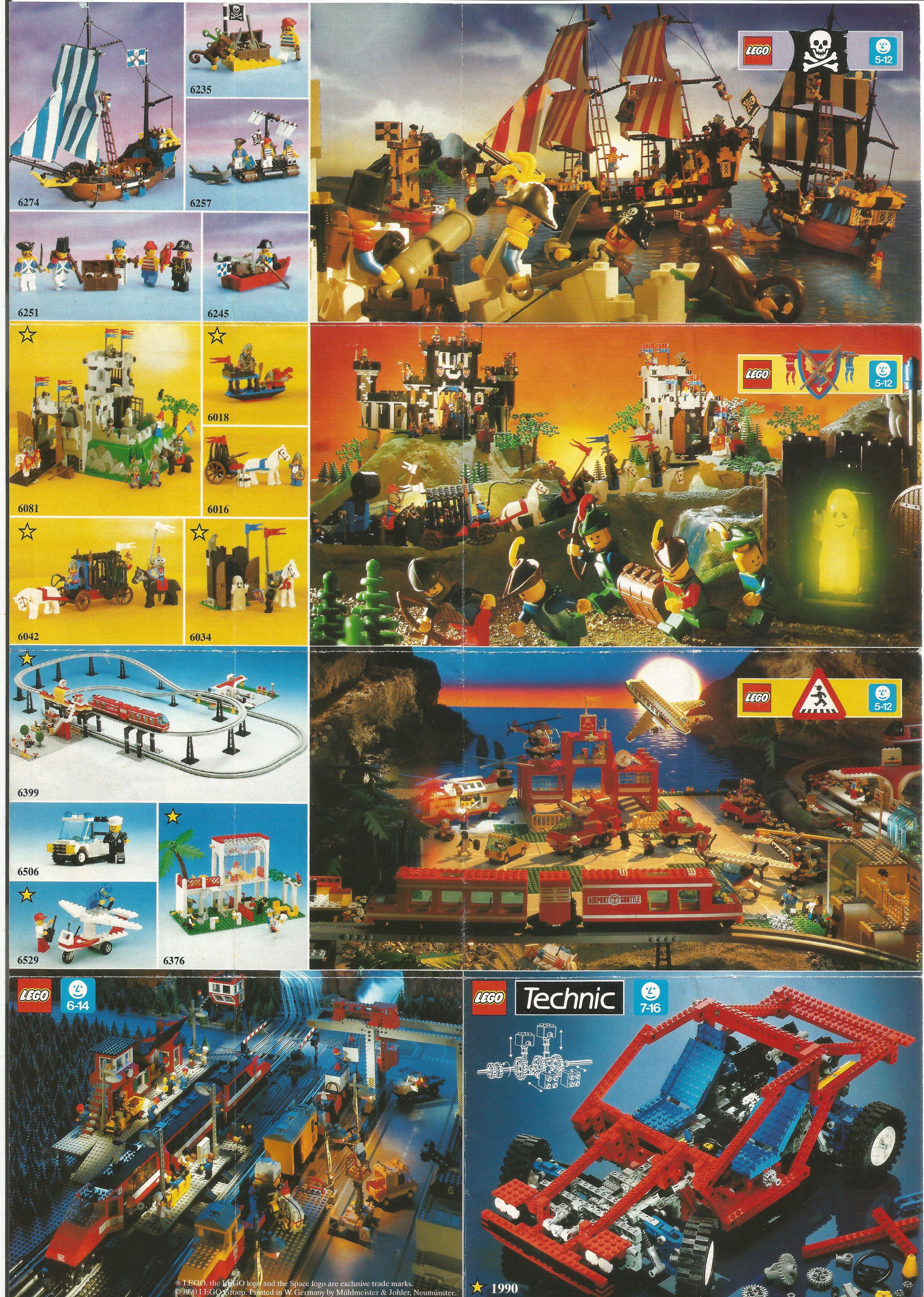 Egylapos Lego insert 1990-ből