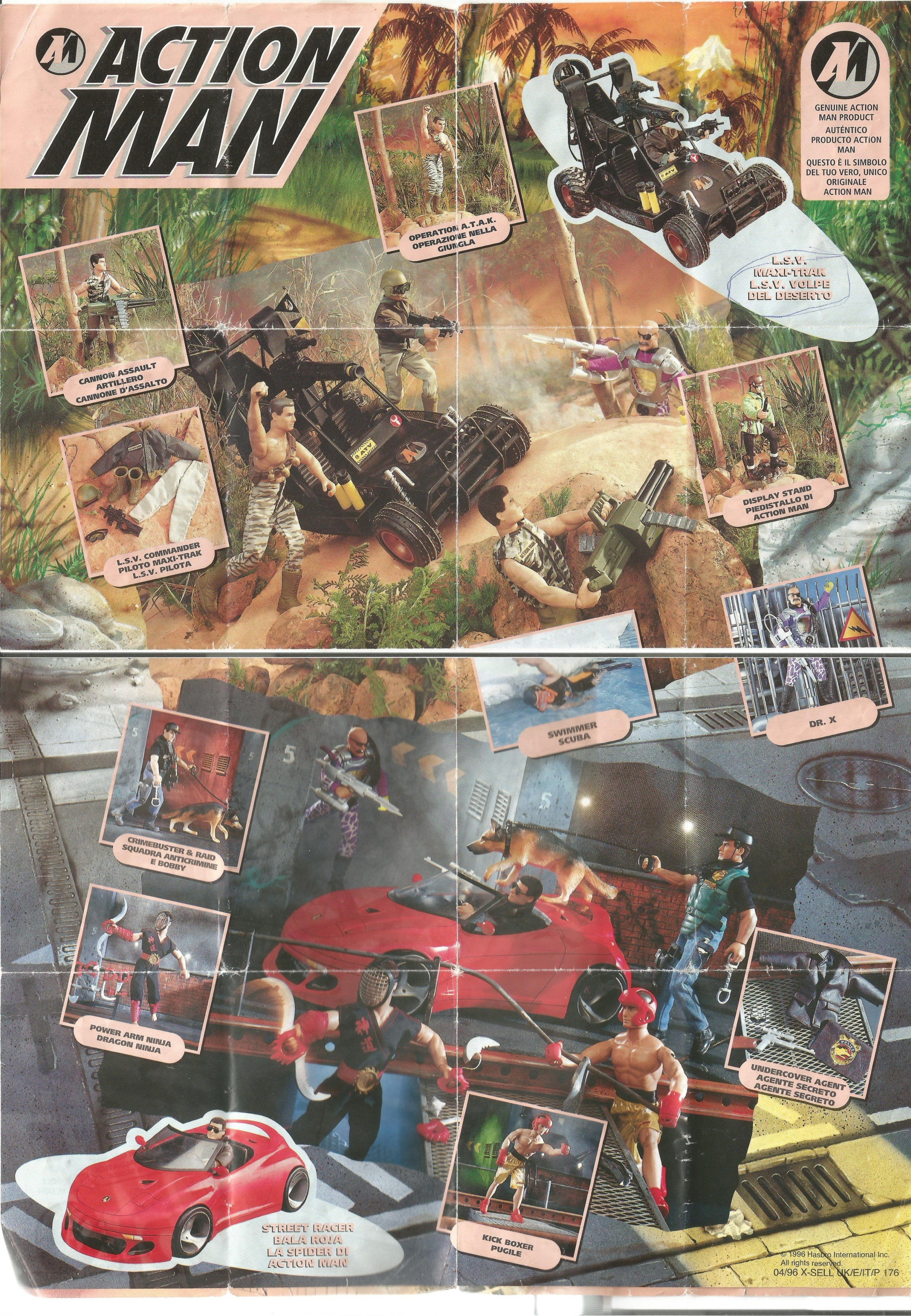 Action Man kihajtogatható poszter 1996-ból