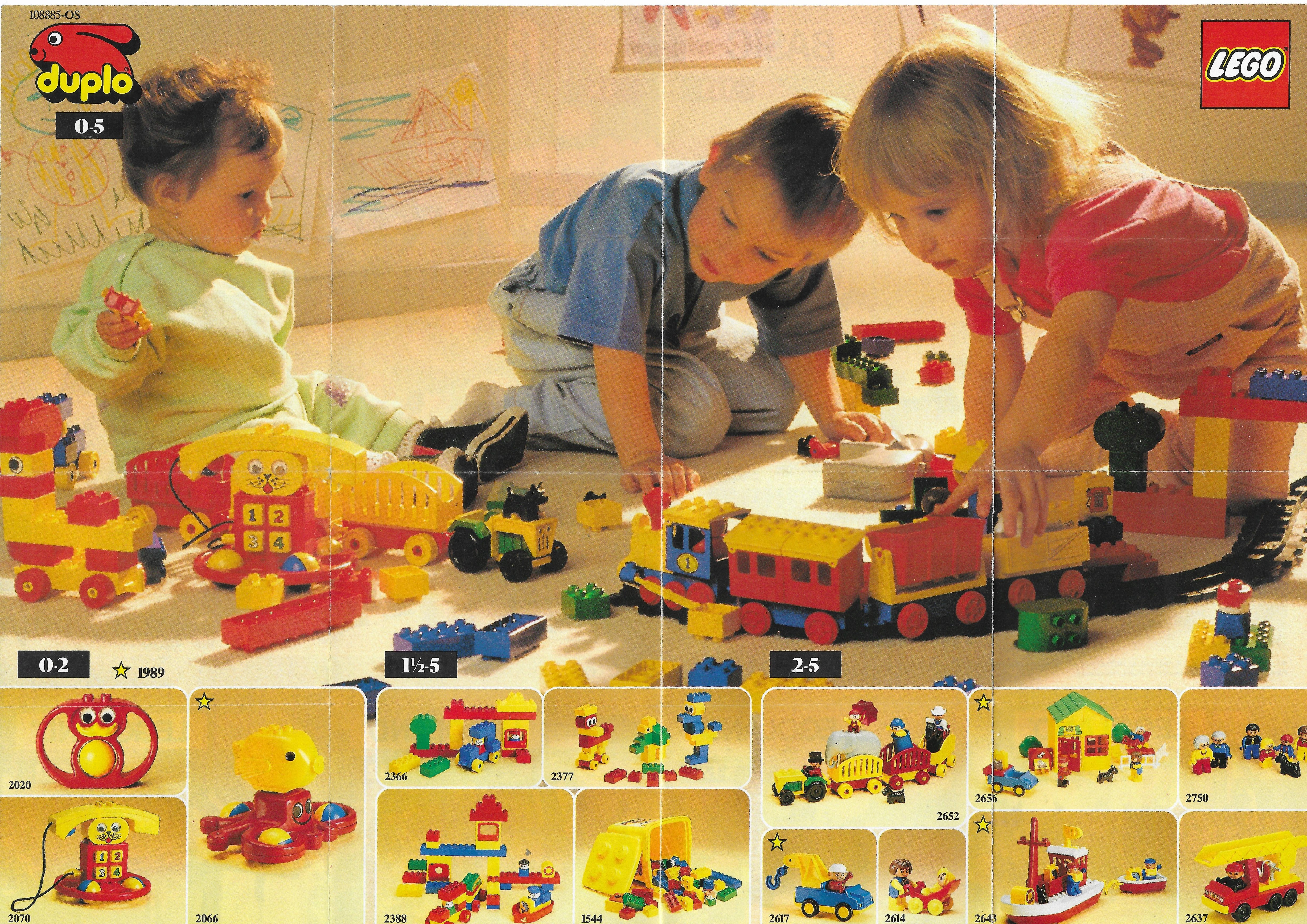 1989-es Duplo-s Lego insert