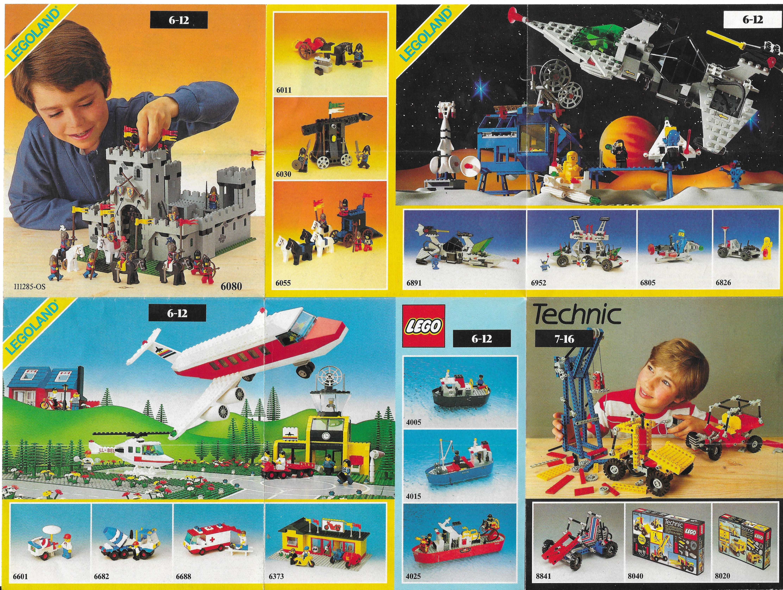 1985-ös általános Lego insert