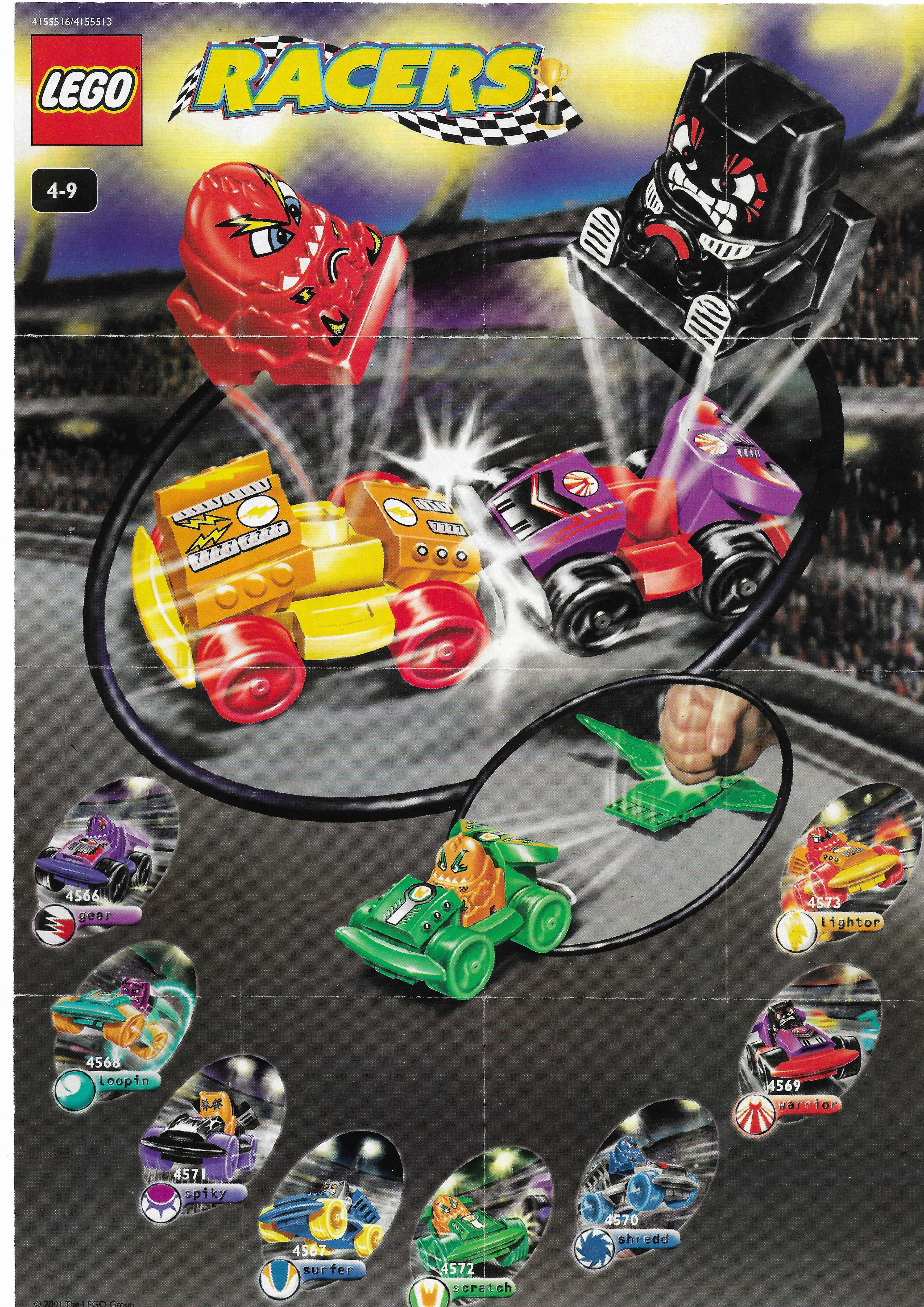 2001-es Lego Racers insert