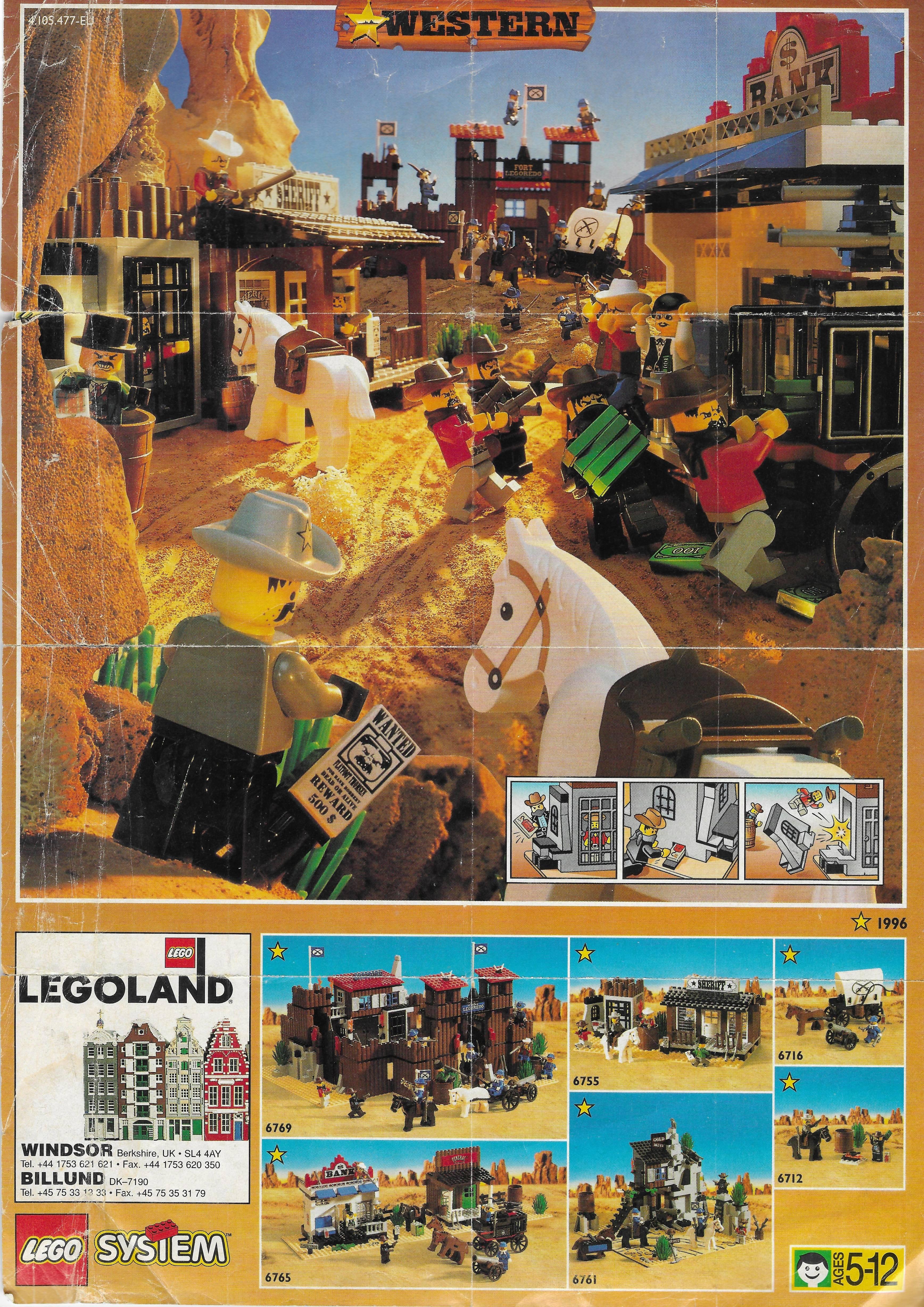 Lego Western insert 1996-ból