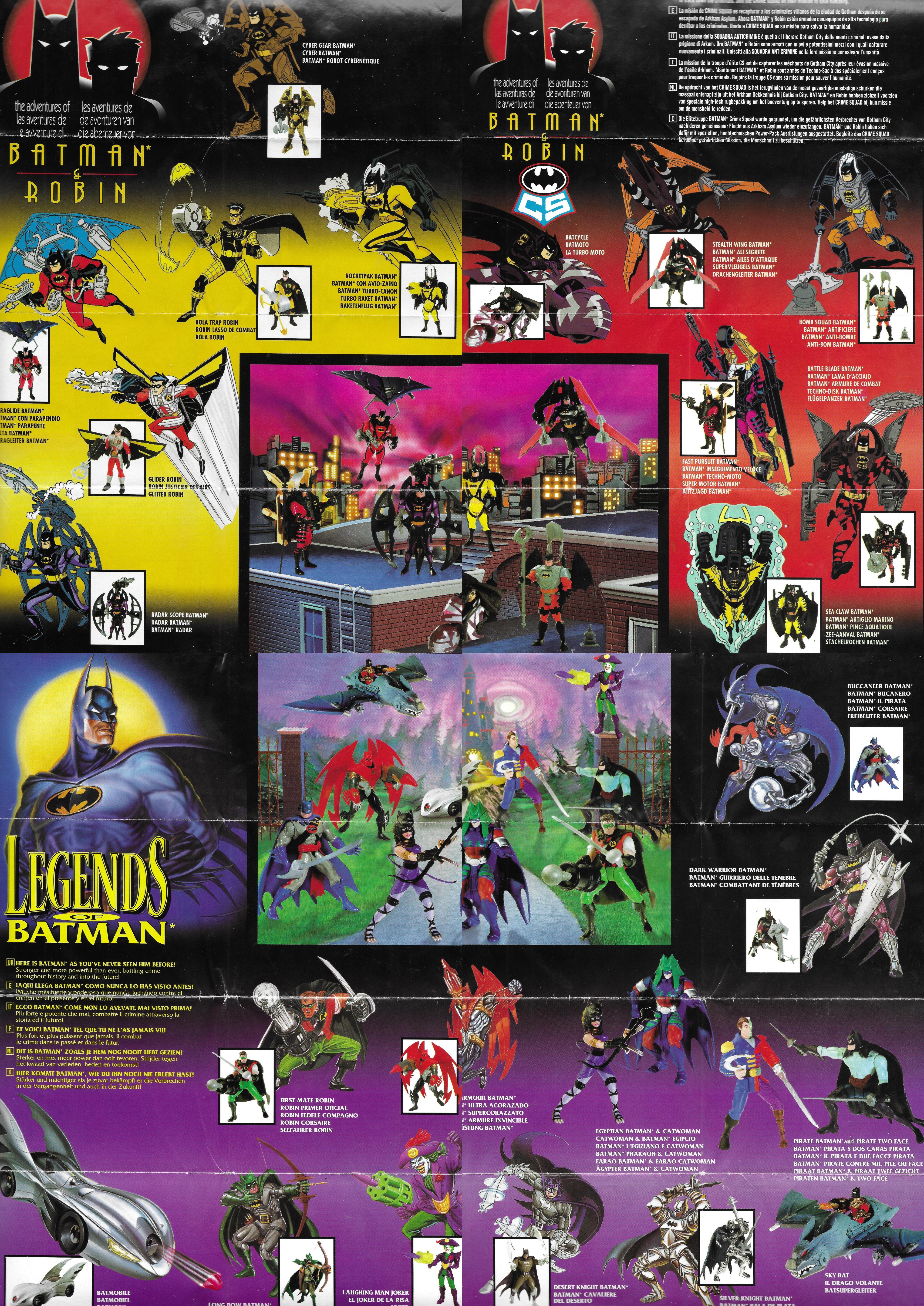 1996-os Kenner Batman katalógus / poszter