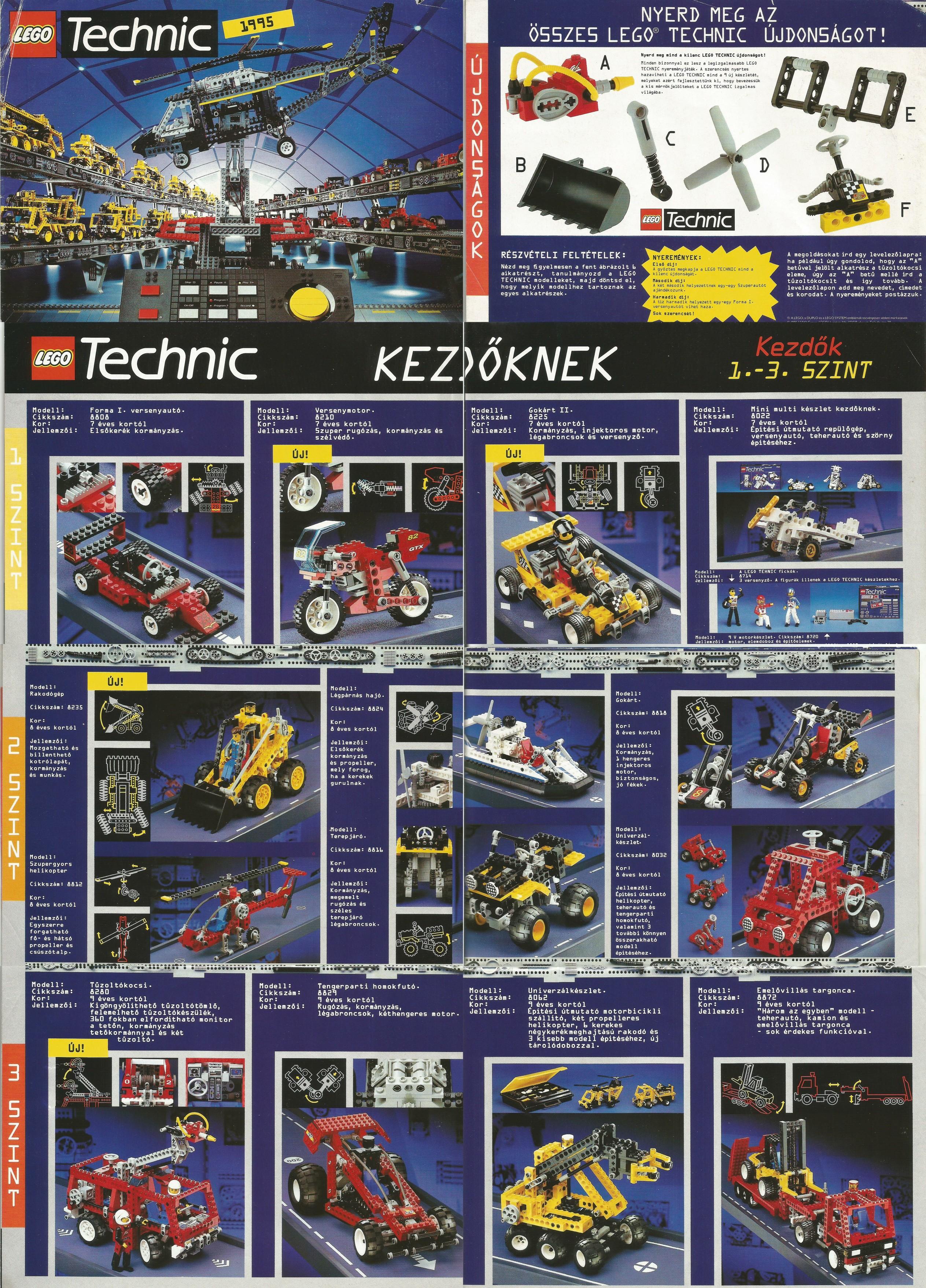 Magyar Lego Technic kihajtogatható katalógus 95-ből