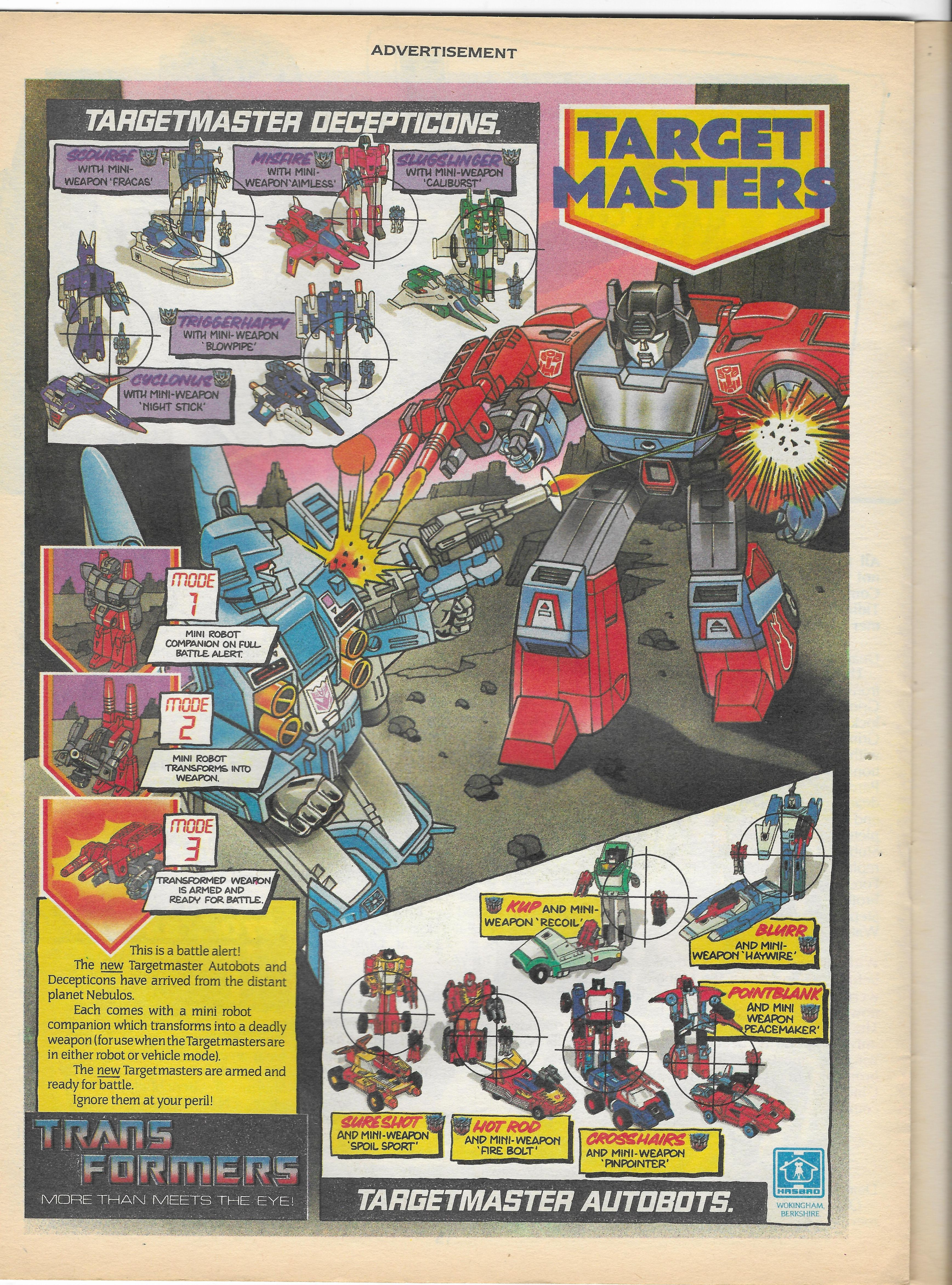 Játékreklámok angol Transformers képregényekből (86-88) 2.rész