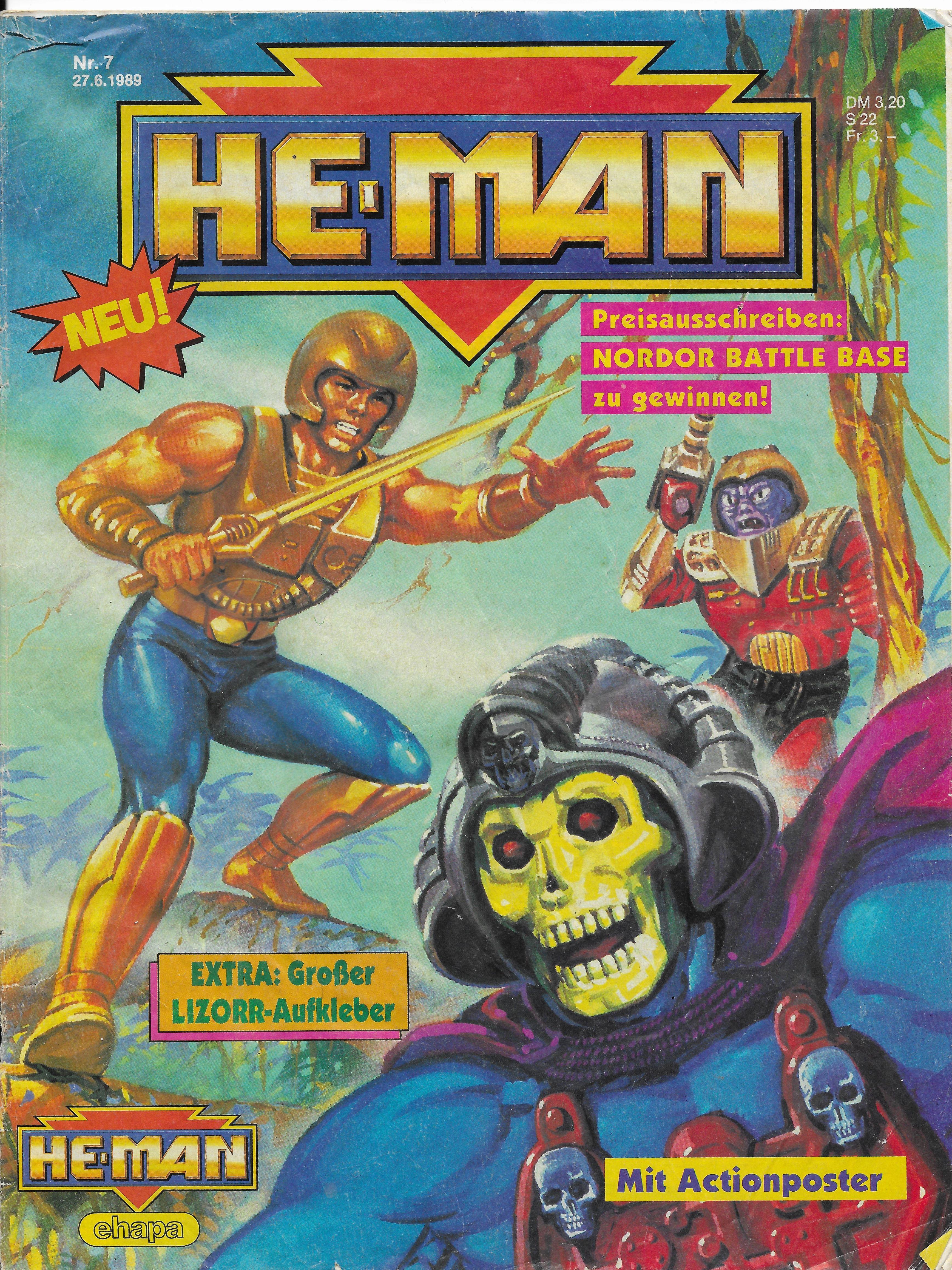 Egy német He Man képregény 1989-ből