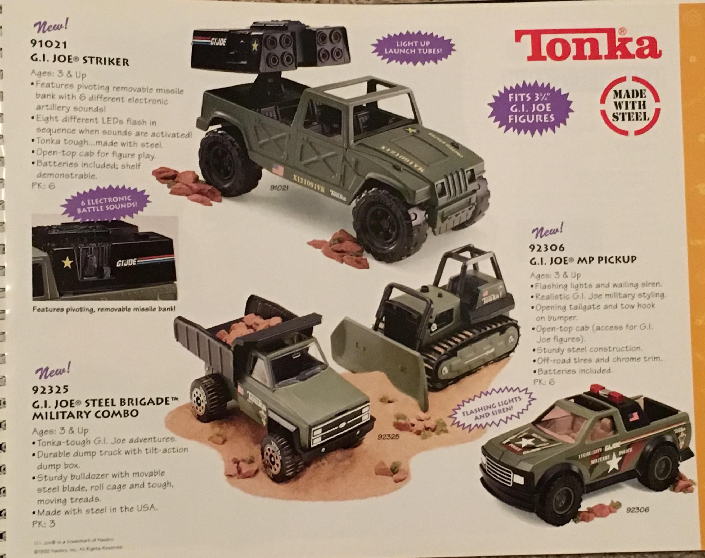 A Tonka fém G.I.Joe járművei