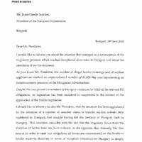Én írok Önnek - Orbán levele Junckernek