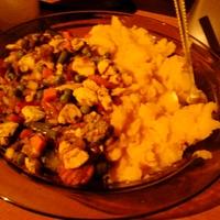csilis csirkemell párolt zöldségekkel és krumplival