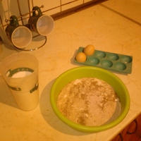 tojásos nokedli zablisztből és kecsketejből