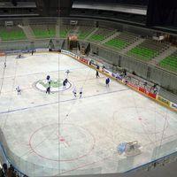 Áll a jégpálya Ljubljanában
