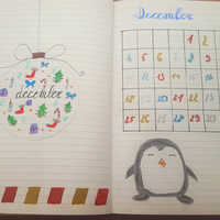 Bullet journal decemberben is