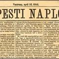 Történelmünk legfontosabb újságcikke 1865-ből [57.]