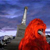Versel a mesterségesen intelligens oroszlán a Trafalgar téren