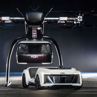 Drón-autókeverék repülő taxin dolgozik az Audi és az Airbus