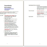 CV-péntek: önéletrajz minták munkanélkülieknek