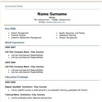 Angol CV fejezetek