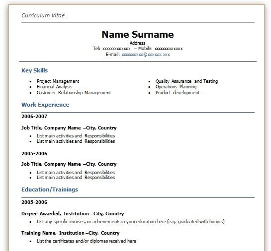 brit önéletrajz minta Angol CV fejezetek   JobAngel brit önéletrajz minta