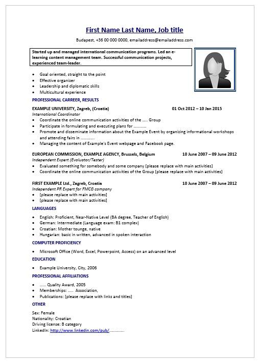 önéletrajz németül sablon CV péntek: önéletrajz minta bevándorlóknak   JobAngel önéletrajz németül sablon