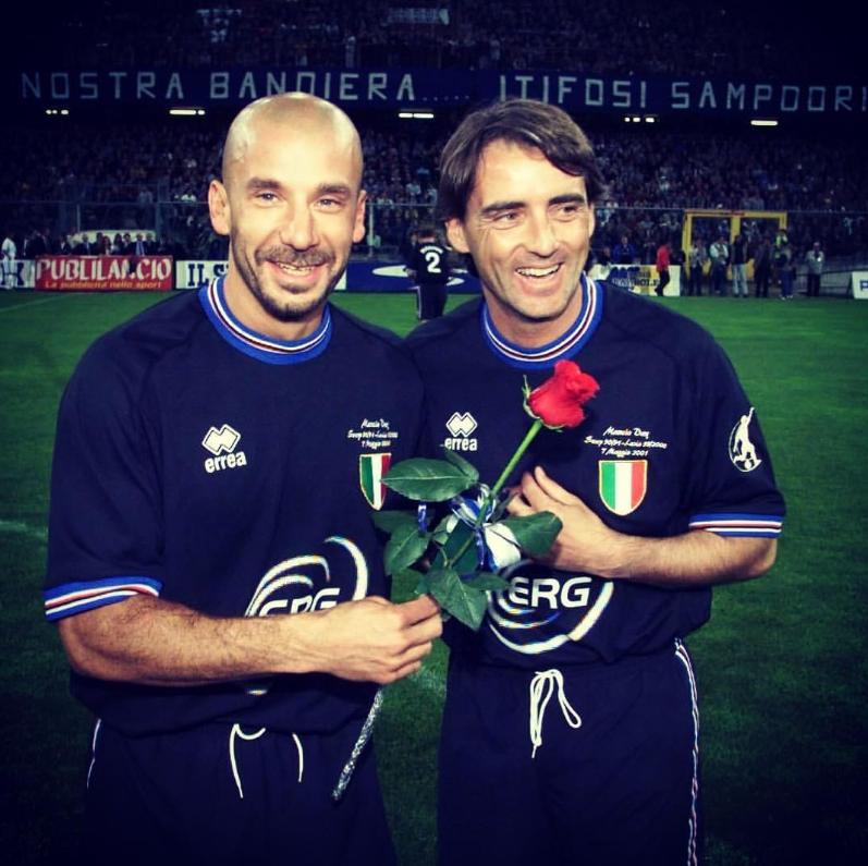Vialli és Mancini legendás páros volt a Sampdoriában, azóta is jóban van a két pali