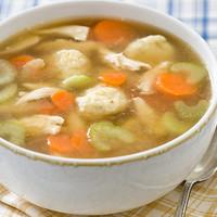 Sajtgombóc leves csirkemell csíkokkal