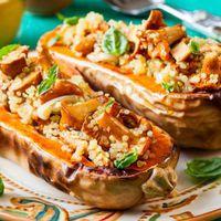 Téli Édes-fűszeres sütőtök, quinoával töltve