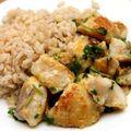 Citromos vajban sült tengeri hal,barna rizzsel