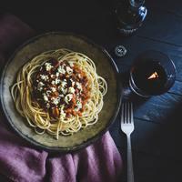 Vörösboros gombás bolognai spagetti