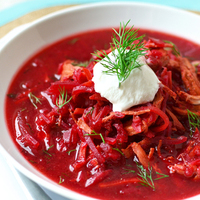 Céklavörös leves - a borscs