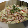 Tojásos - sonkás saláta