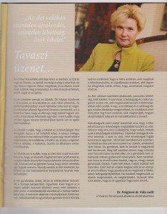 Polgárné Vida Judit elnökhelyettes