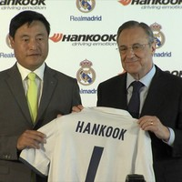 Hankook felirat a Real Madrid mezeken