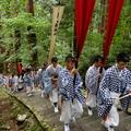 The pilgrimage of the Yamabushi priests to the sacred Mount Haguro