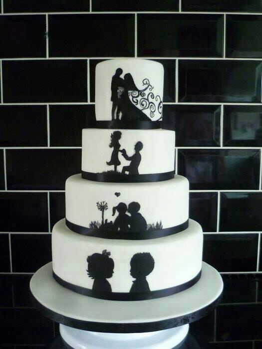 fekete fehér esküvői torta esküvői torta   Jó nőnek lenni fekete fehér esküvői torta