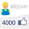 Elértük a 4.000 like-ot is