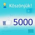 Facebook oldalunk elérte az 5000 like-ot!