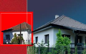 Modern kockaház tetőtérbe rejtett értékekkel