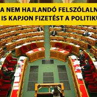 Nem beszél a politikus? Ne kapjon fizetést!