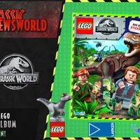 Jurassic Newsworld: Hivatalos Lego Jurassic World matricás album!