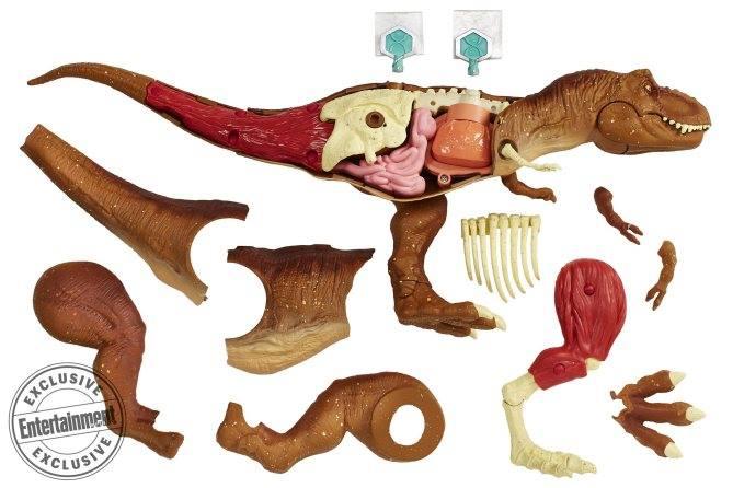 ... nem csak egyszerű játékfigura, de oktatójáték is lesz egyben! A fél oldala lebontható lesz, és megismerhetővé válik a zsarnokgyík anatómiája! Az úgy nevezett DNS kulcsokkal pedig az izmok, illetve a vérkeringése lesz lekövethető. A fejéről pedig csak annyit, ennél szebbet az eddigi hivatalos Jurassic Park figurák között én még nem láttam!