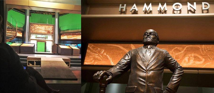 A Samsung Innovation Center látogatóközpontban az eredeti park alapítója, John Hammond előtt is tisztelegtek