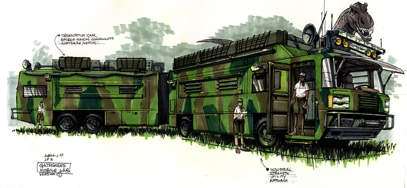 A különleges buszról készült látványterv
