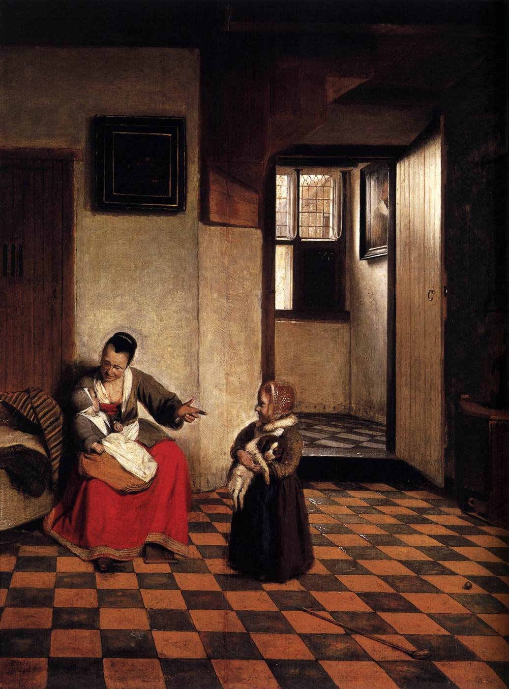 Pieter_de_Hooch_-_A_Woman_with_a_Baby_in_Her_Lap,_and_a_Small_Child_-_WGA11693.jpg