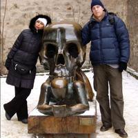 Koponya Prágából, Desperado Skóciából - bizarr szobrok