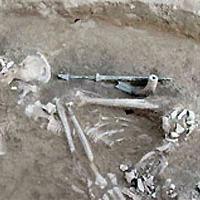 Klarinét volt a nő sírjában
