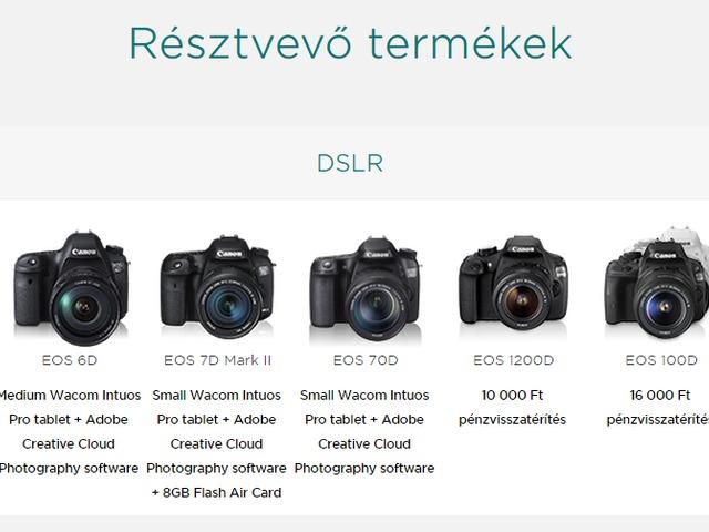 Canon tavaszi-nyári pénzvisszatérítés 2015
