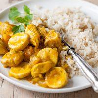 Heti recept: Curry-s banános csirkemell