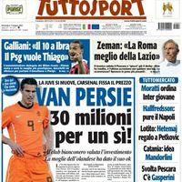 Robin Van Persie ára 30 millió euró