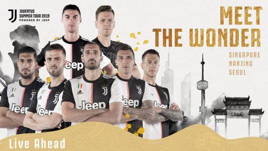 A Juventus utazó kerete az ázsiai túrára