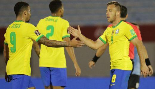 Arthur megszerezte első gólját a brazil válogatottnál